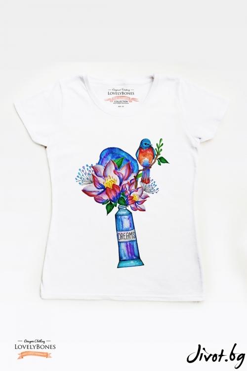 "Дамска тениска ""Dreams"" / LovelyBones Clothing"