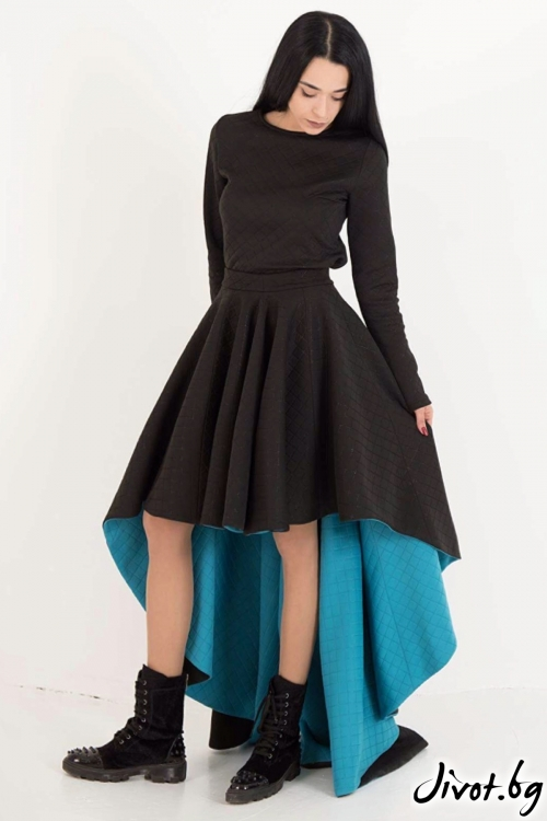 Комплект пола и блуза от неопрен / JUST T.K.