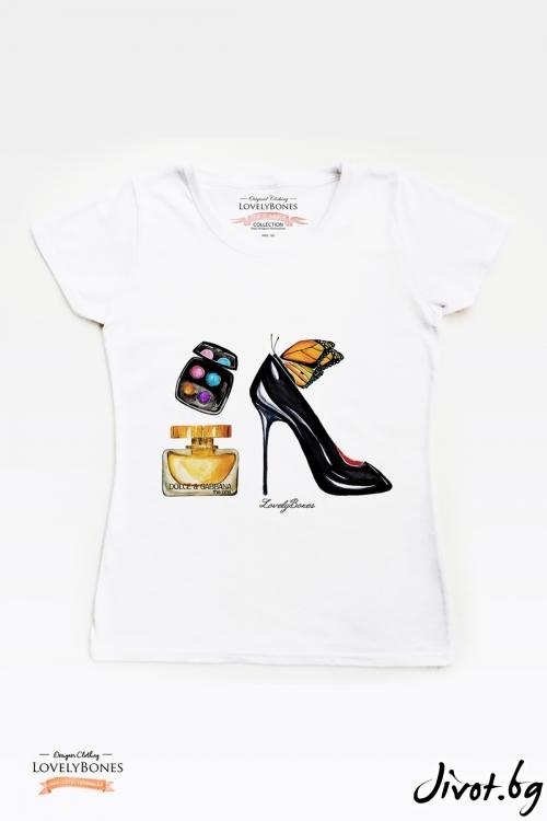 "Дамска тениска ""Accessories"" / LovelyBones Clothing"
