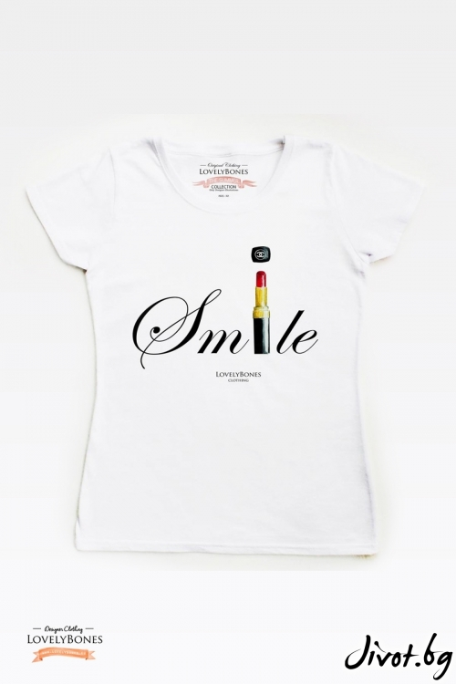 "Дамска тениска ""Chanel Smile"" / LovelyBones Clothing"