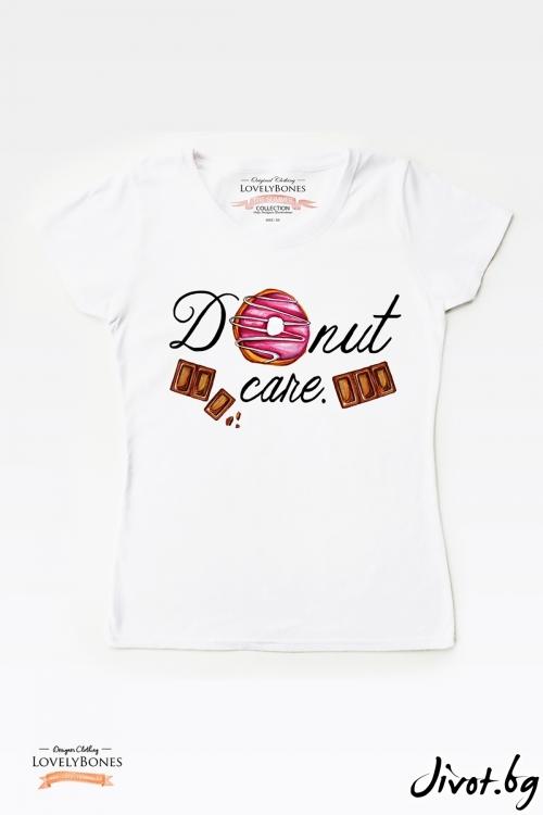 "Дамска тениска ""Donut"" / LovelyBones Clothing"