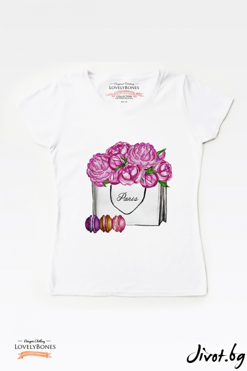 "Дамска тениска ""Girl's got to shop"" / LovelyBones Clothing"