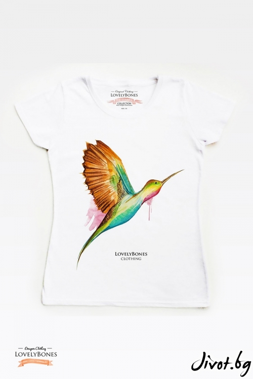 "Дамска тениска ""Humming Bird"" / LovelyBones Clothing"