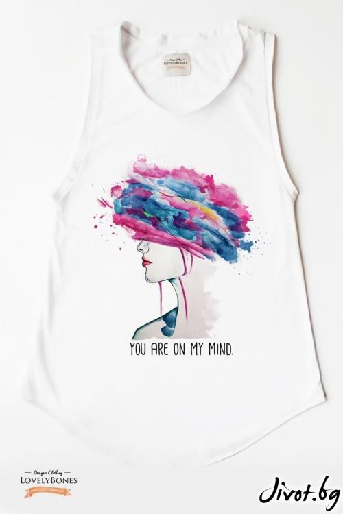 "Дамска туника без ръкави ""Colorful mind"" /LovelyBones Clothing"