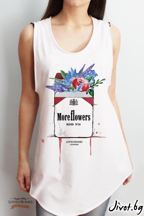 "Дамска туника без ръкави ""No smoking"" /LovelyBones Clothing"