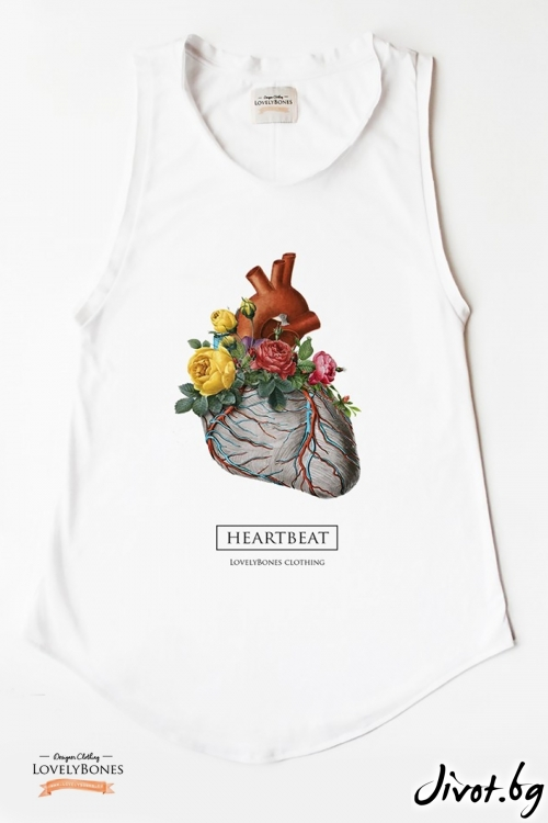 "Дамска туника без ръкави ""WILD Heartbeat"" /LovelyBones Clothing"