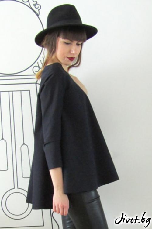 Разкроена дамска блуза / FABRA MODA STUDIO