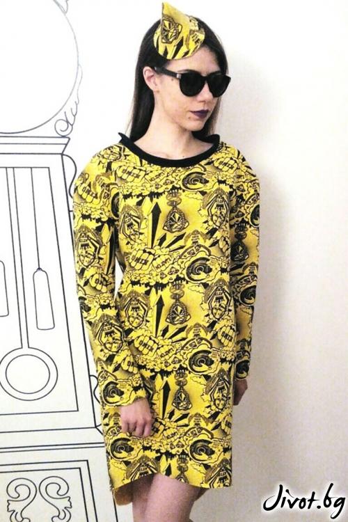 Асиметрична long fit блуза/FABRA MODA STUDIO