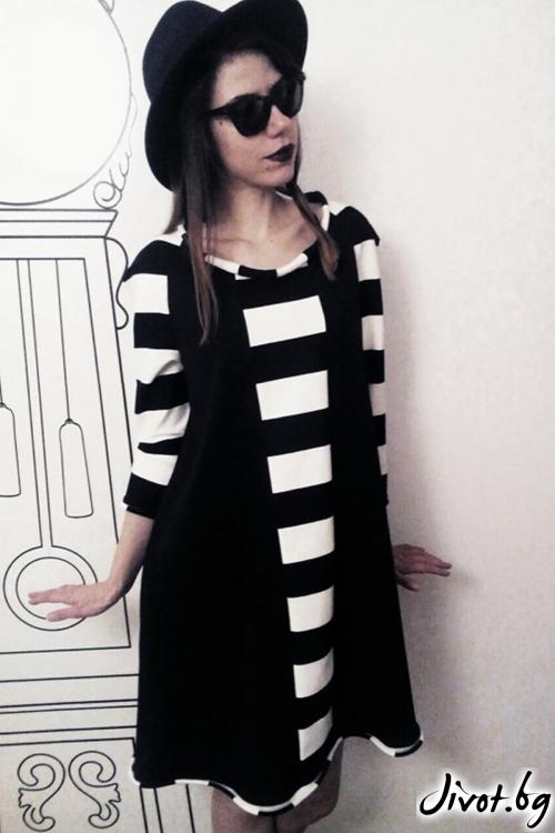 Къса рокля с райета / FABRA MODA STUDIO