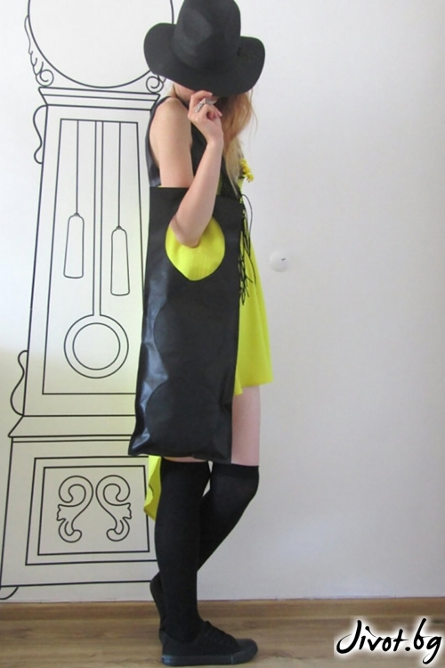 Черна чанта от естествена кожа/FABRA MODA STUDIO