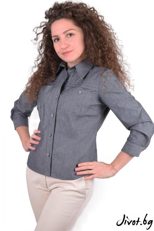 """Блуза от органик памук """"Преди изгрева"""" / Амплоа Ателиер"""