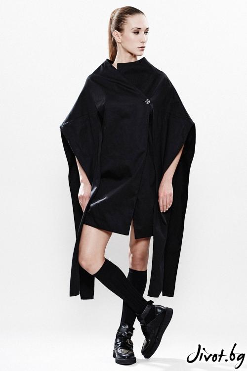Черно дамско асиметрично сако / MARIA QUEEN MARIA