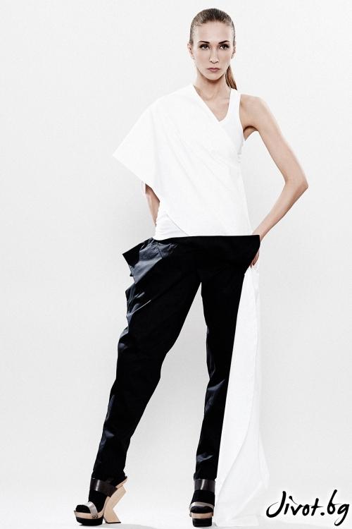 Черни деконструктивни панталони / Maria Queen Maria