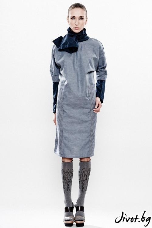 Екстравагантна ленена рокля / Maria Queen Maria