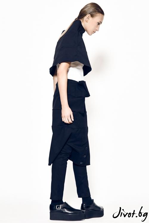 Черен деконструктивен дамски панталон / Maria Queen Maria