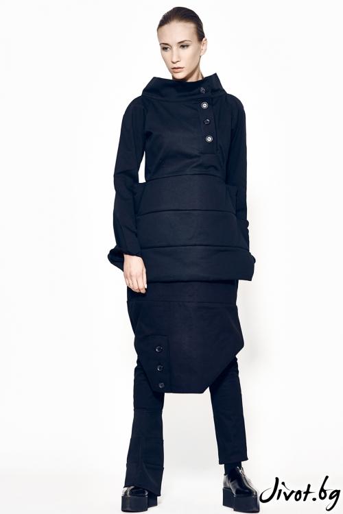 Черно топло сако/палто / MARIA QUEEN MARIA