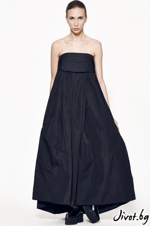 Уникална черна дълга рокля / Maria Queen Maria