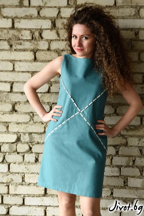 Зелена рокля органик / Амплоа Ателиер