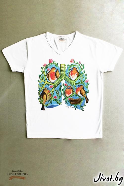 """Мъжка тениска """"A breathe of colours"""" / LovelyBones Clothing"""