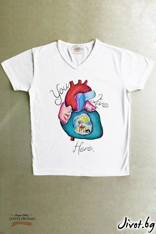 """Мъжка тениска """"A place to live"""" / LovelyBones Clothing"""
