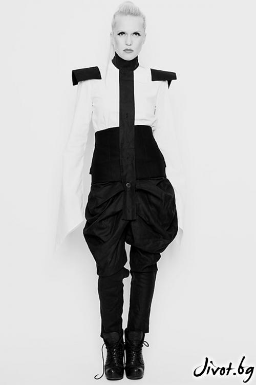 Черен памучен панталон / Maria Queen Maria