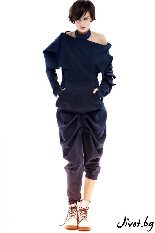 Оригинален дамски деконструктивен панталон / Maria Queen Maria