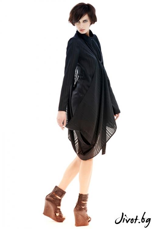 Черна прозрачна раирана риза / Maria Queen Maria