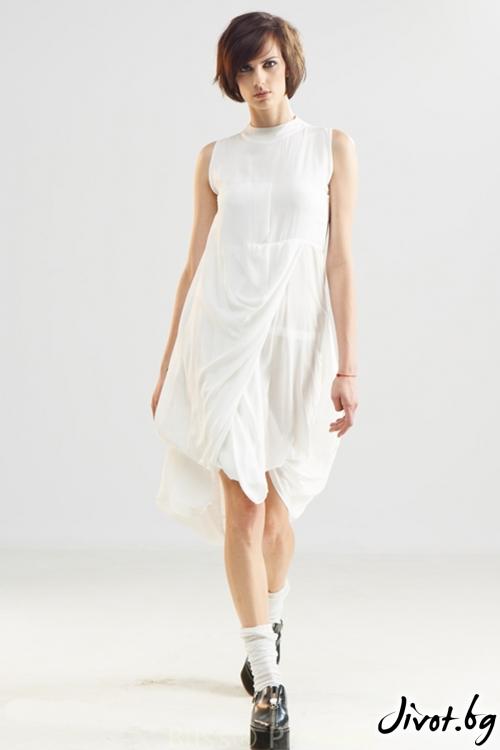 Бяла прозрачна риза / рокля / Maria Queen Maria