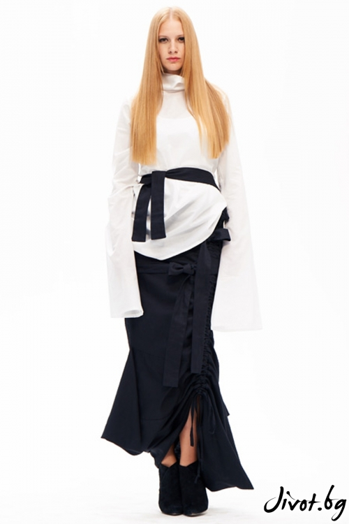 Уникална черна деконструктивна пола / Maria Queen Maria