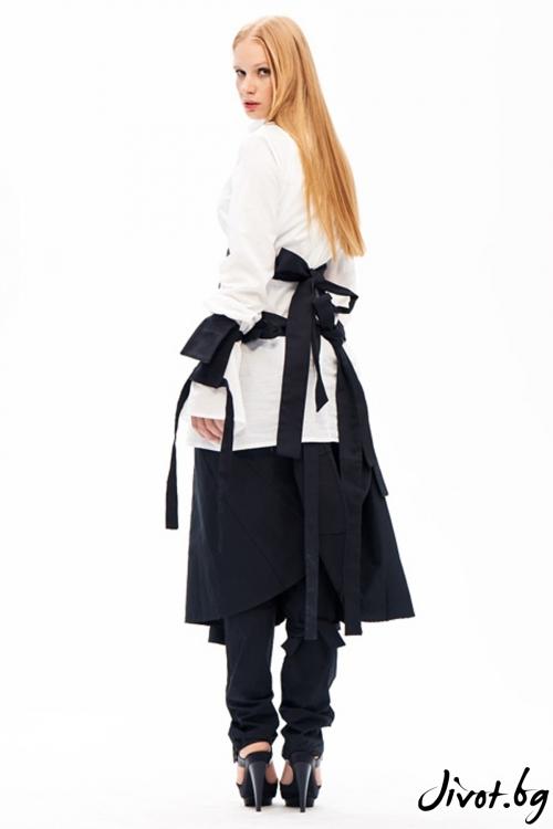 Модерни деконструктивни панталони с пола / Maria Queen Maria