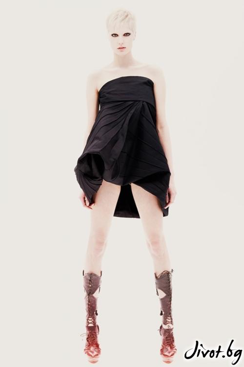Черна памучна къса / дълга пола с голям колан / Maria Queen Maria