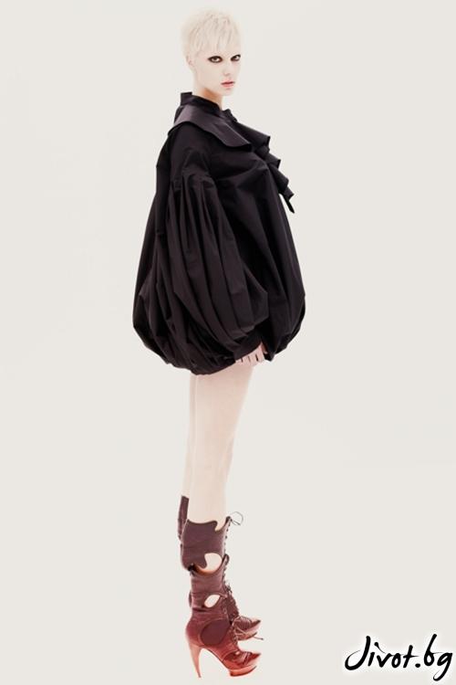 Черна памучна ренесансова риза / Maria Queen Maria