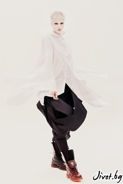 Бяла памучна риза / Maria Queen Maria