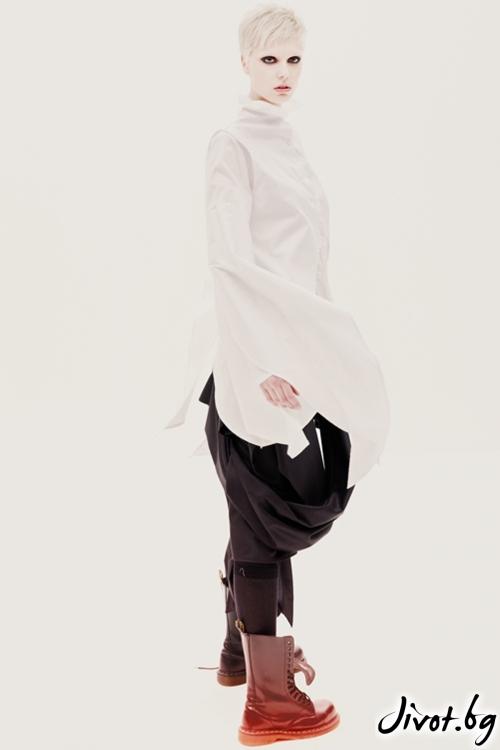 Черна памучна / полиестерна пола / Maria Queen Maria