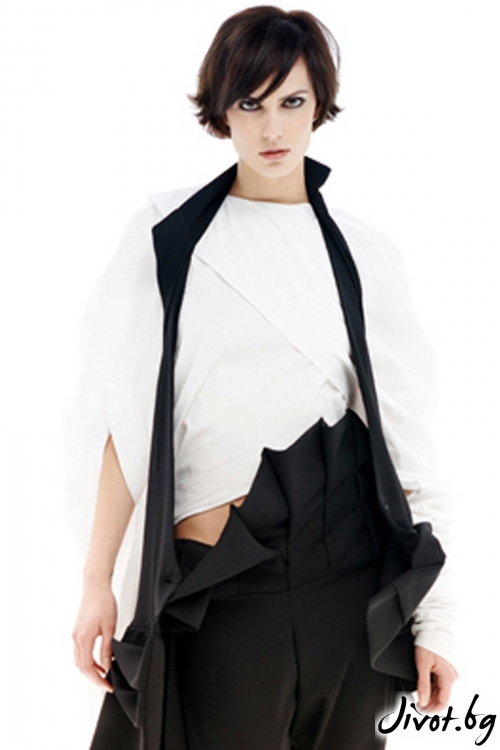 Асиметрична бяла памучна риза / Maria Queen Maria