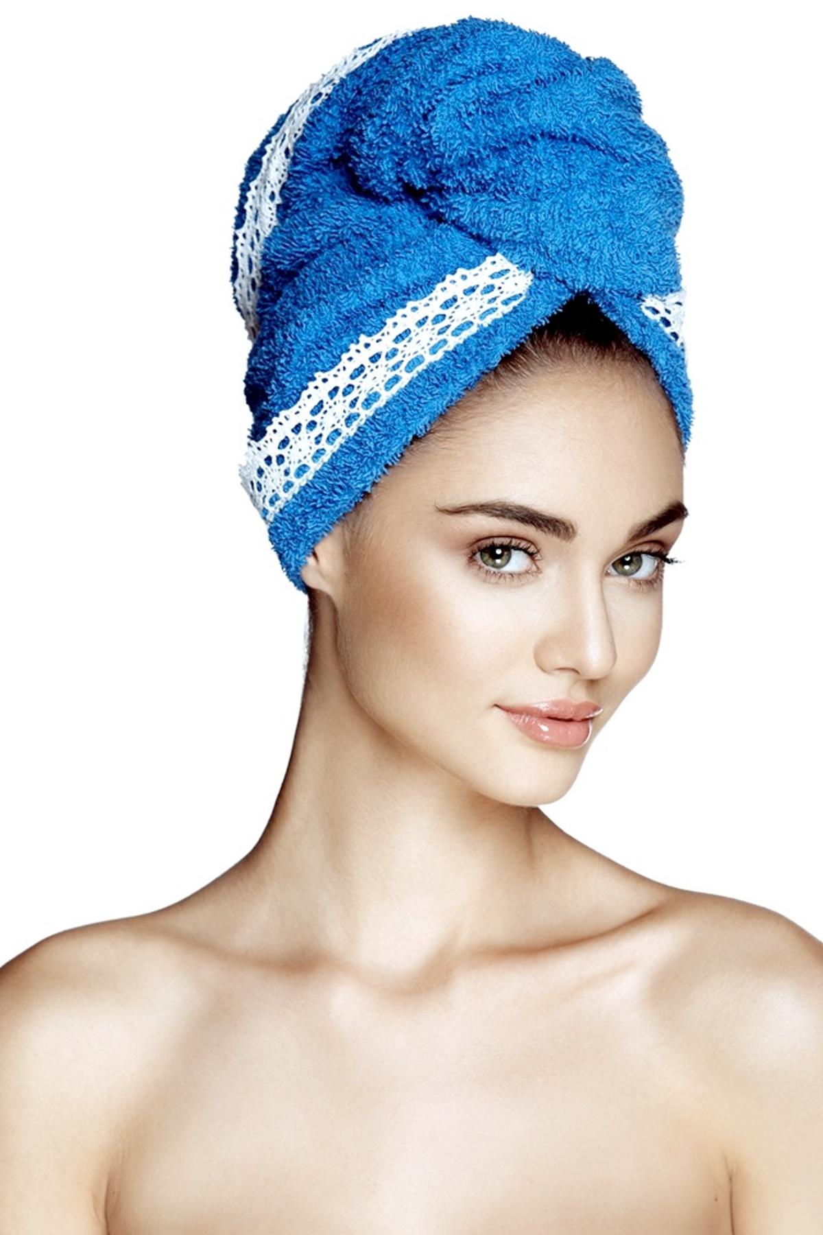 Кърпа за коса GRACE SEA BLUE / AGLIQUE
