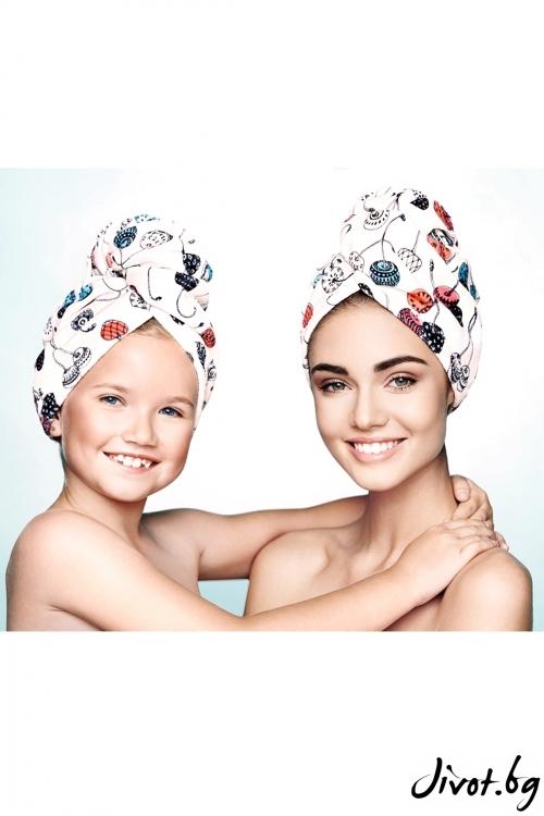Комплект кърпи за коса MON CHERI ME & HER / AGLIQUE