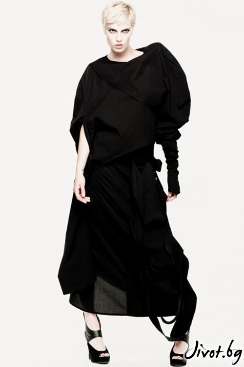 Черна асиметрична дълга пола / Maria Queen Maria