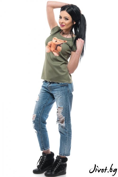 """Дамска тениска с дизайнерски принт """"МЕЧЕ"""" / MyMagenta"""