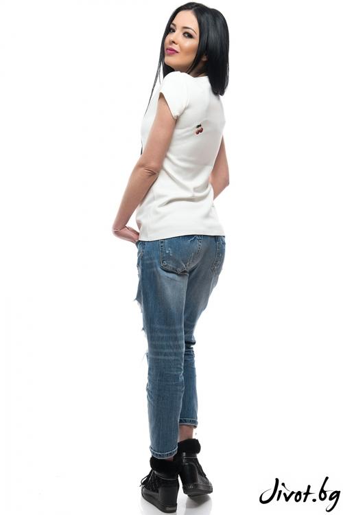 Красива дамска тениска Мече / MyMagenta
