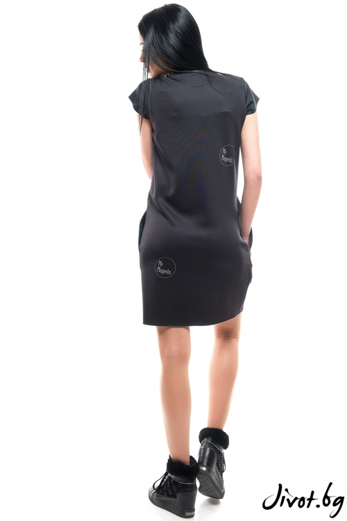 Красива черна рокля ANGEL / MyMagenta