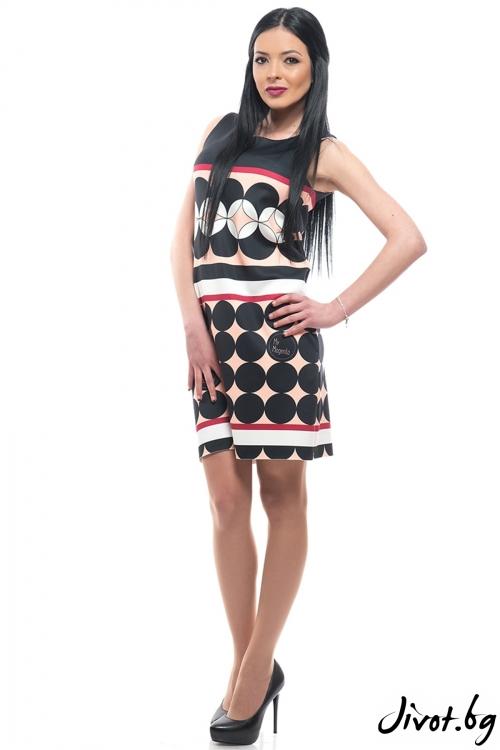 Красива рокля на раета Пудра / MyMagenta