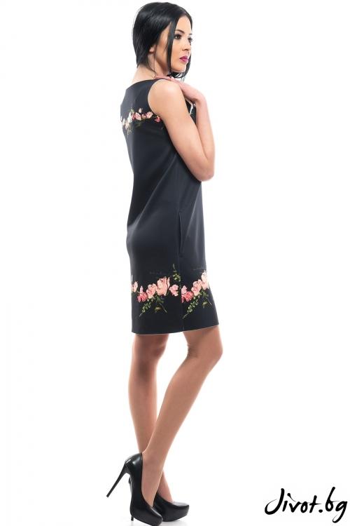 Красива рокля с рози / MyMagenta