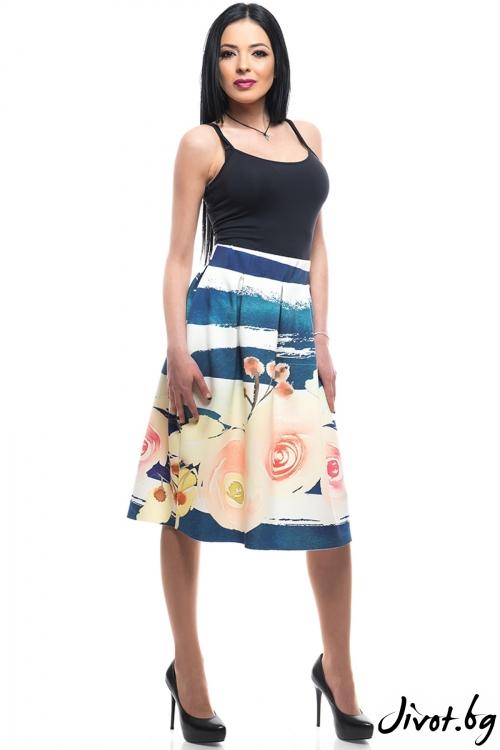 Елегантна пола с цветя / MyMagenta