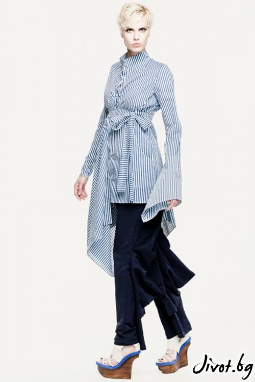 Памучна деконструктивна риза / Maria Queen Maria