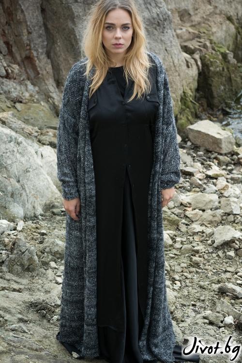 Мека и топла плетена дамска жилетка / M2V