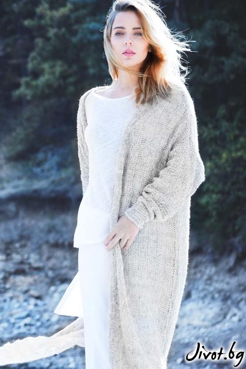 Мека плетена дамска жилетка / M2V