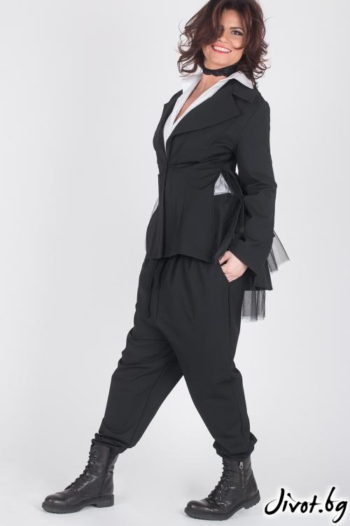 Черно елегантно дамско сако / Модна История