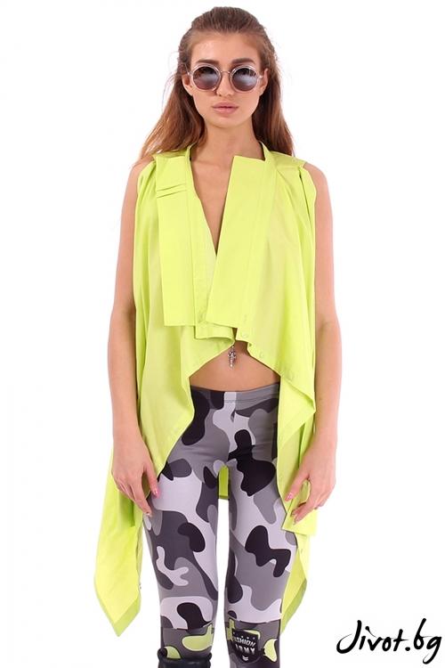 Туника / риза от памучен текстил с много приложения / Cherry You
