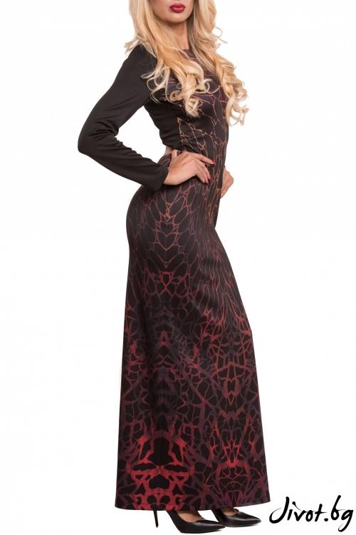 Фамозна червена дълга рокля / TONI DARK